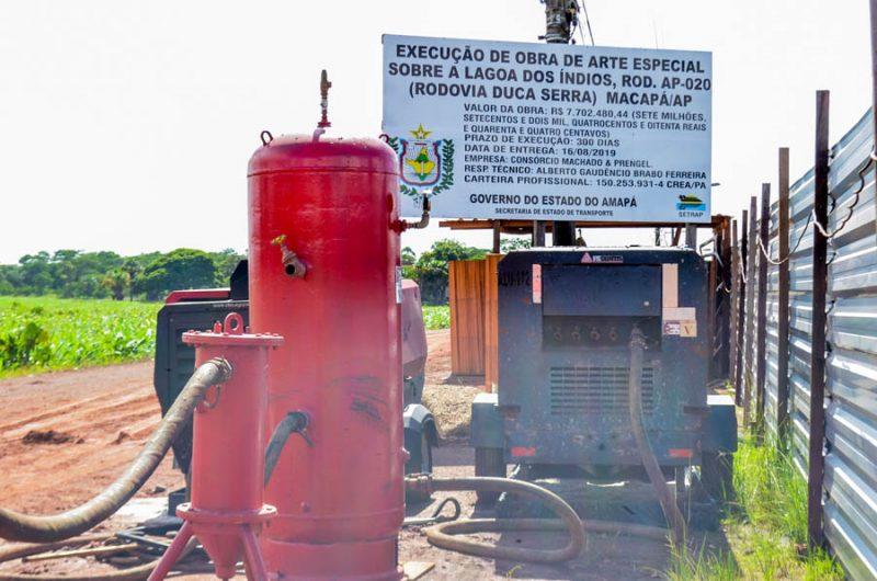 Construção da nova ponte da Lagoa dos índios depende de interdição parcial da Duca Serra